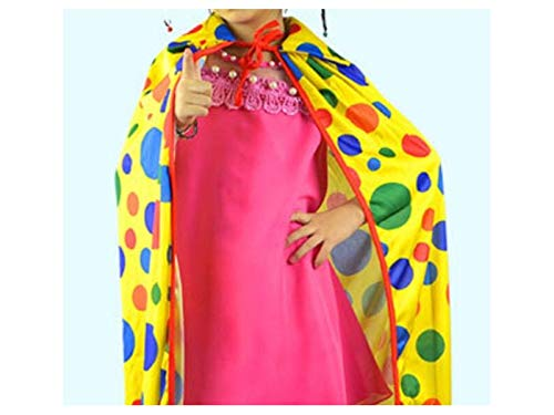 Yuchoi Funny Funny Clown Cloak Long Dot Cape Halloween Christmas Costumes Masquerade (Yellow)