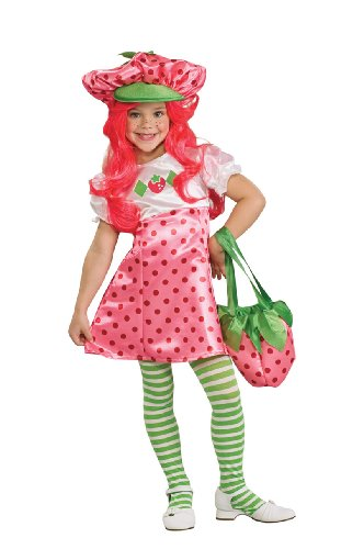 Strawberry Shortcake Deluxe Children's Costume, Small - Deluxe Strawberry Shortcake Wig For Women