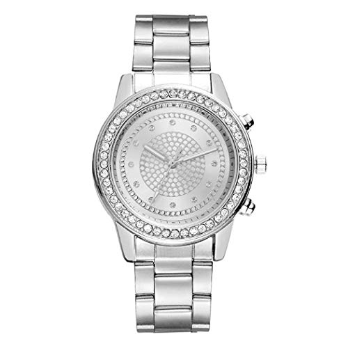 Quartz Wrist Watch,Breven Unisex Fashion Alloy Band Round Analog Watch,Bracelet Bangle,Silver ()
