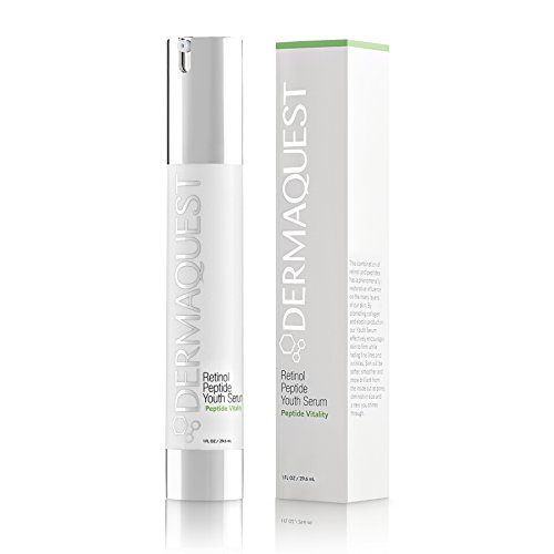 (DermaQuest Peptide Vitality Retinol Peptide Youth Night Serum - Fine Lines, Wrinkles and Pores Reducer, 1 fl. oz. )