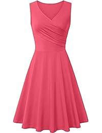 Sleeveless Dress for Women Unique Cross Wrap Slim Fit T-Shirt Dress