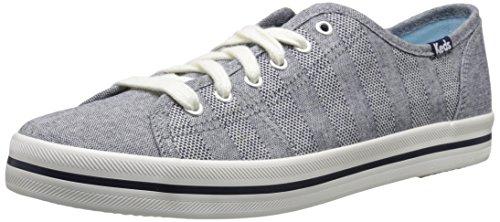 (Keds Women's Kickstart Chambray Stripe Fashion Sneaker,Navy,7.5 M US)