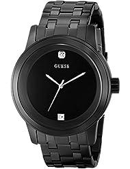 GUESS Mens Stainless Steel Diamond Dial Bracelet Watch, Color: Black (Model: U12604G1)