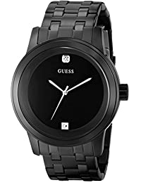 GUESS Men's U12604G1 Self Assured Diamond-Accented Black Stainless Steel Watch