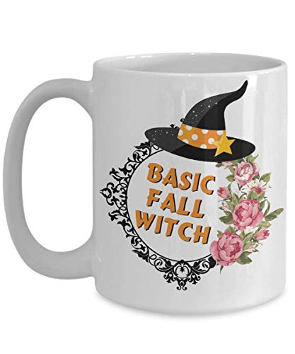 Fall - Autumn - Basic Witch - Funny Mug For Girls - Witches Brew - Halloween Coffee Mug, Funny, Cup, Tea, Gift For Christmas, Father's day, Xmas, Dad, for $<!--$10.99-->