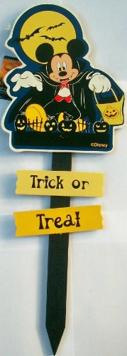 Mickey Mouse Trick Or Treat Vampire 2 Ft Yard Stake Sign