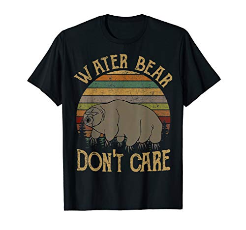 Science T-Shirt Water Bear Don't Care Funny Tardigrade