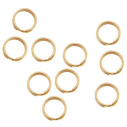 14k Gold Filled Split Rings - Beadaholique 14K Gold Filled Split Rings 4.5mm (10)