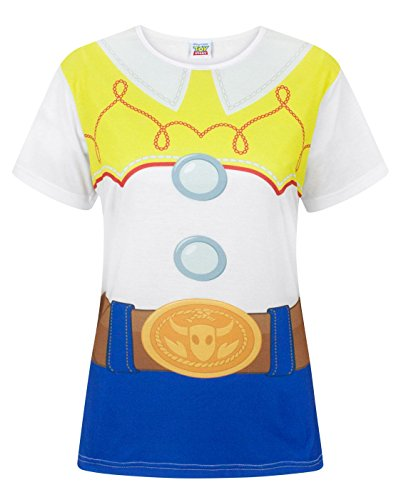 Disney Toy Story Jessie Costume Women's T-Shirt (S) White -