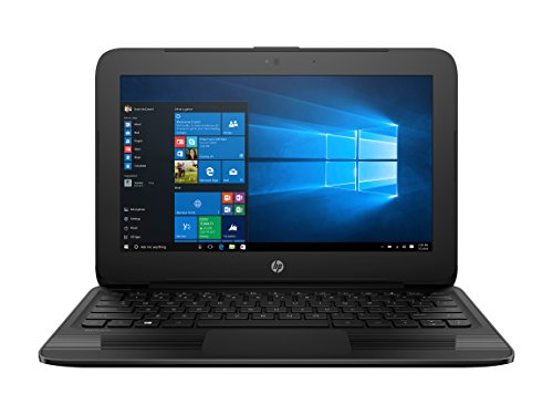 Newest HP Lightweight Stream Pro 11.6' Notebook (Intel Celeron N3060, 4GB Ram, 64GB SSD, Intel HD Graphics, Windows 10Pro) Classic Black- Only 2.58 Ibs