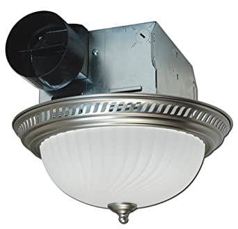 Exhaust Fan Light Bathroom Ceiling Round Ventilation Blower Decor Bath Nickel Ebay