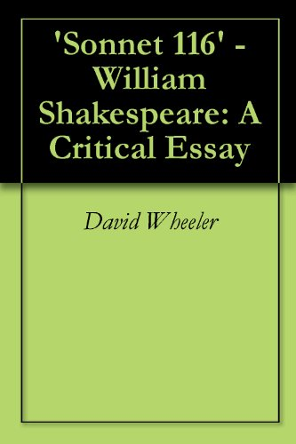 'Sonnet 116' - William Shakespeare: A Critical Essay