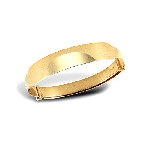Jewelco Londres 9K bracelet rigide coupe de diamant d'or id 5mm expansion