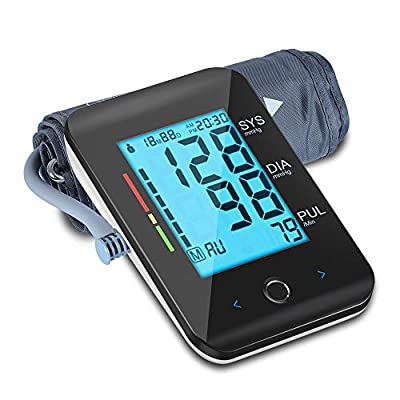"""Blood Pressure Monitor Cuff Upper Arm. ALPHAGOMED 8.66""""-16.5"""" Large Cuff. Blood Pressure Machine Automatic BP Monitor. Large LCD Display 2-Users 180-Readings. FDA Approved"""