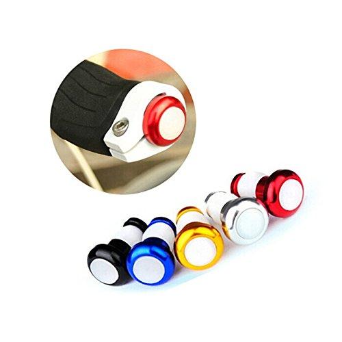 Helpful Safety Cycling LED Red Light Lamp Handle Bar End Plug Bike Turn Signal
