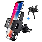 Car Phone Holder, Baseus Air Vent Cell Phone Car Mount Quick Release, 360 Degree Rotation, Compatible with iPhone X, 8/8 Plus, 7/7 Plus, 6/6 Plus, Samsung Galaxy S9, S8, S7, S6, S5