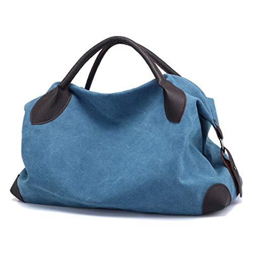 Toile épaule Grande Main Mode Diagonal Sac capacité de Sacs Vintage Unique féminine Bleu à Banlieue Sac ZHRUI Toile tz6Xww