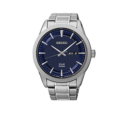 Seiko-Mens-Silvertone-Stainless-Steel-Solar-Watch