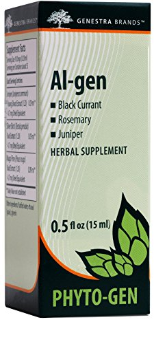 Genestra Brands - Al-gen - Black Currant, Rosemary, and Juniper Herbal Supplement - 0.5 fl oz (15 ml)