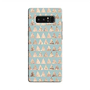 Cover It Up - Brown Pale Blue Triangle Tile Galaxy Note 8 Hard Case