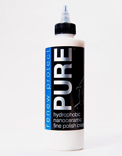 Renew Protect New! Pure (RP.08) - Buff-On or Wipe-On Like a Ceramic Wax, fine-Finish Perfection Polish, 40% Titanium + Quartz Infused nanoceramics, 8oz + Free GLOZ Sample