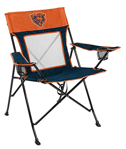 Rawlings NFL Game Changer Large Folding Tailgating and Camping Chair, with Carrying Case, Chicago Bears