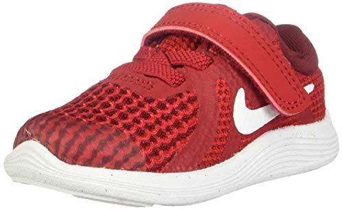 Nike Boys' Revolution 4 (TDV) Running Shoe, Gym White-Team red-Black, 2C Regular US Toddler (Nike Revolution 2 Toddler Boys)