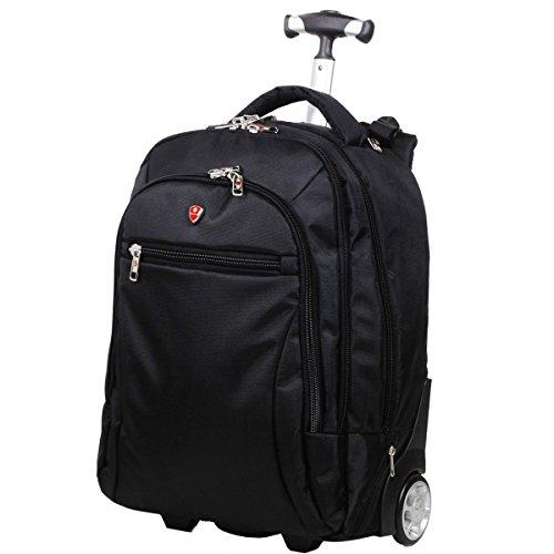 Schneeball-Tasche mit back-trolley PC 45 cm, Schwarz