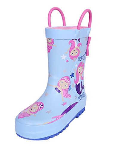 SHOFORT Girls' Rain Boots Rubber Handles Toddler, Size 9 by SHOFORT (Image #7)