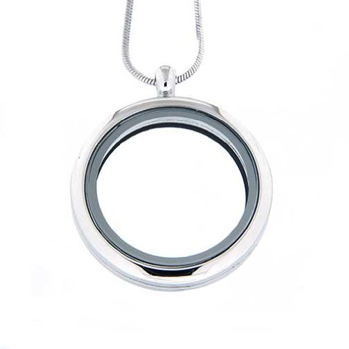 Large Round Locket (Clearly Charming Large Round Locket Necklace for Floating Charms)