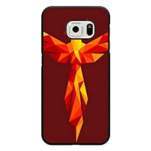 Samsung Galaxy S6 Edge Shell,Prevdent Gorgeous Geometric Phoenix Wallpaper Pattern Mobile Phone Case for Samsung Galaxy S6 Edge