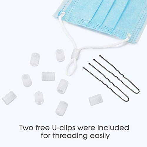 Clear Cord Locks for Drawstrings, Toggles Cord Locks Adjustable Buckles, Clear, 30pcs