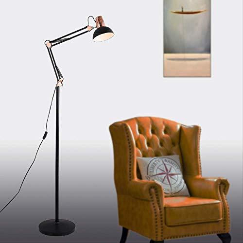Creativa americana de brazo largo brazo plegable lámpara de ...
