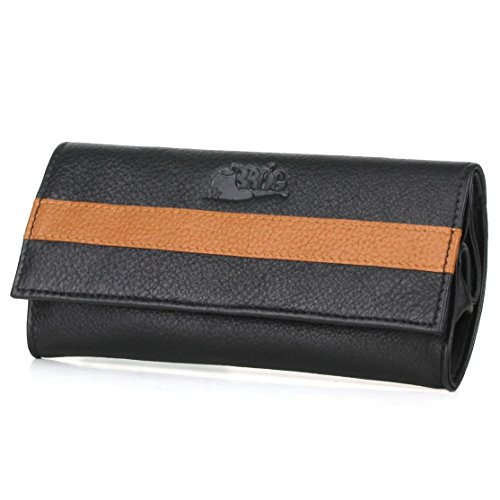 Pipe Tobacco Pouch - Nappa+Camelo Leather - [Black+Tan] by Mr. Brog