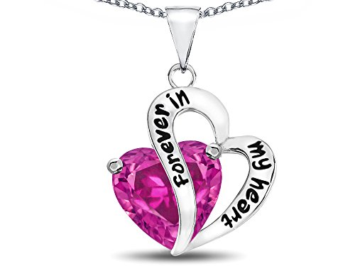 Star K Sterling Silver Forever in My Heart Pendant Necklace
