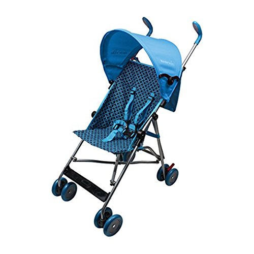 Wonder Buggy Skyler Jumbo Umbrella Stroller with Round Canopy & Mesh Compartment, Teal Blue, One Size