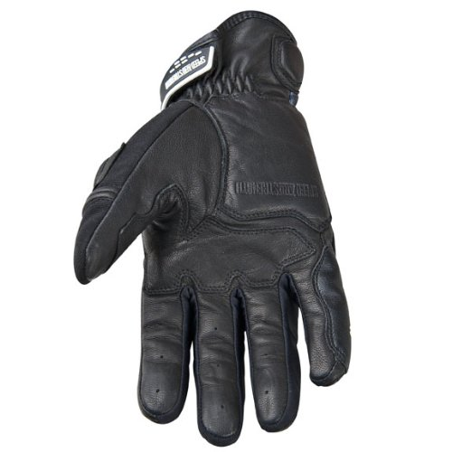 NEW SPEED AND STRENGTH TOUGH AS NAILS-SHORT ADULT LEATHER/TEXTILE GLOVES, BLACK, 2XL/XXL