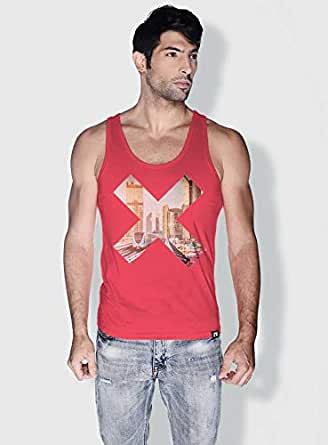 Creo Dxb X City Love Tanks Tops For Men - L, Pink