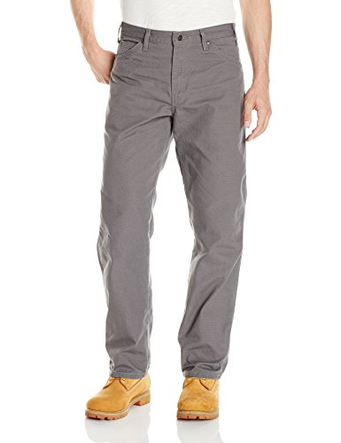 Dickies Men's Relaxed Fit Straight-Leg Duck Carpenter Jean, Slate, 32W x 36L