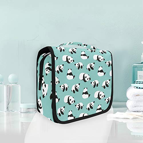 Makeup Cosmetic Bag Panda Bear Cartoon Portable Storage Travel Toiletry Bag