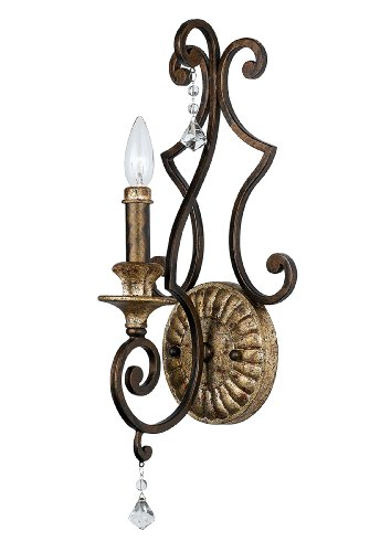 Quoizel MQ8701HL 1-Light Marquette Wall Sconce in - Quoizel Wall French Lighting