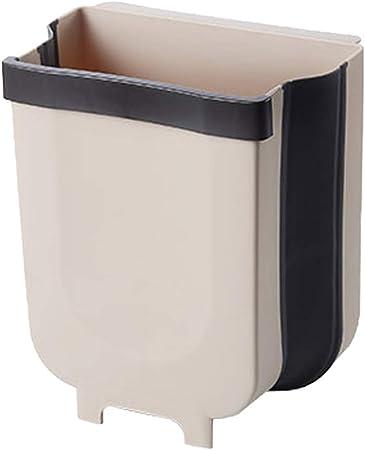 Hemoton Abfalleimer Zum Aufhangen Mini Mulleimer Faltbar Fur Kuchenschrank Schranktur Badezimmer Schmutzbehalter Amazon De Kuche Haushalt
