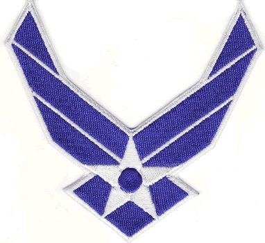Air Force Logo iron-on embroidered patch (Air Force Patch)