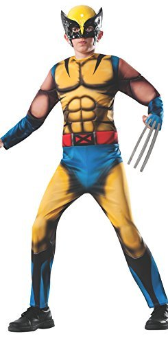Rubies Marvel Universe Classic Collection Deluxe Fiber-Filled Muscle-Chest Wolverine Costume, Medium (8-10) by (Wolverine Muscle Costume)
