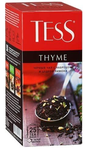 [2 PACK] Black tea TESS Thyme + lemon peel FLAVOUR Beverages Grocery Gourmet Food [25 tea bags in 1 PACK]