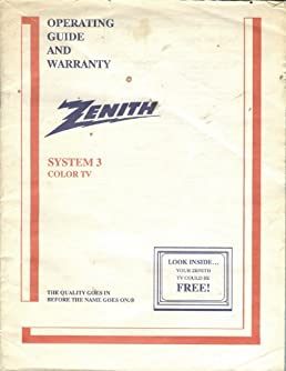 zenith system 3 tv operating guide owners manual zenith amazon rh amazon com Zenith Sy1963 Zenith Advanced System 3