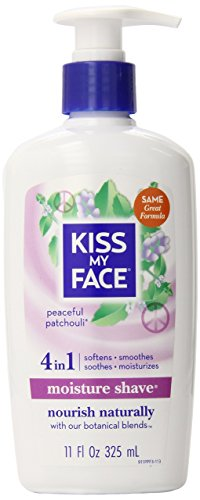Kiss My Face Essential Oils Body Lotion - Kiss My Face Moisture Shave  Shaving Cream, Patchouli Shaving Soap, 11 Ounce (Pack of 4)