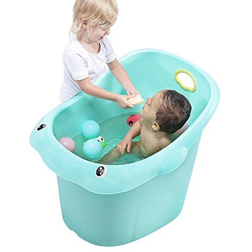 Grifos de ducha y baneras Baneras Bebe para ninos Baneras Tinas para ninos Tinas grandes Con banquetas de bano Piscina para bebes (Color : Green, Size : 70 * 55 * 48CM)