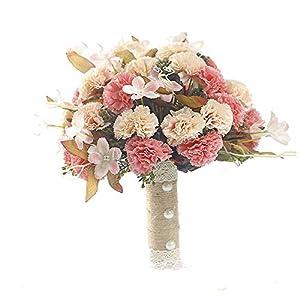 Kindlov-F Hand Bouquet Fashion Beautiful Wedding Flowers Bridal Bouquets Elegant Bride Bridesmaid for Wedding, Church Wedding Bouquet Delicate 89