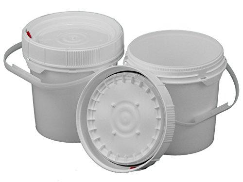 Dimensions 5 Gallon Bucket (2 Screw Top 62 mil Buckets - 1.25 Gallon, White Lids)